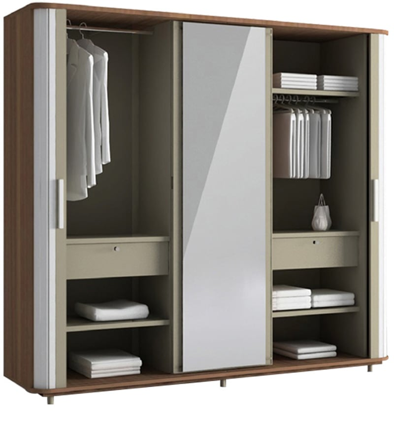 Hyacinth Wardrobe In Cincinnati Walnut Finish By Godrej Interio By Godrej Interio Online