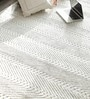 Silver & Mist Cotton & Viscose Hand Loomed Textured Carpet by Hyde Park