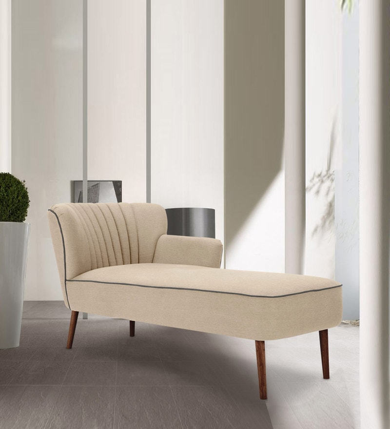 Iconic Astonishing Lounge Chaise in Beige Colour by Dreamzz Furniture