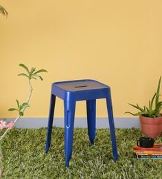 Iero Metal Stool In Blue Colour