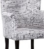 Iggy Wing Chair in Newsprint Fabric Finish by Bohemiana