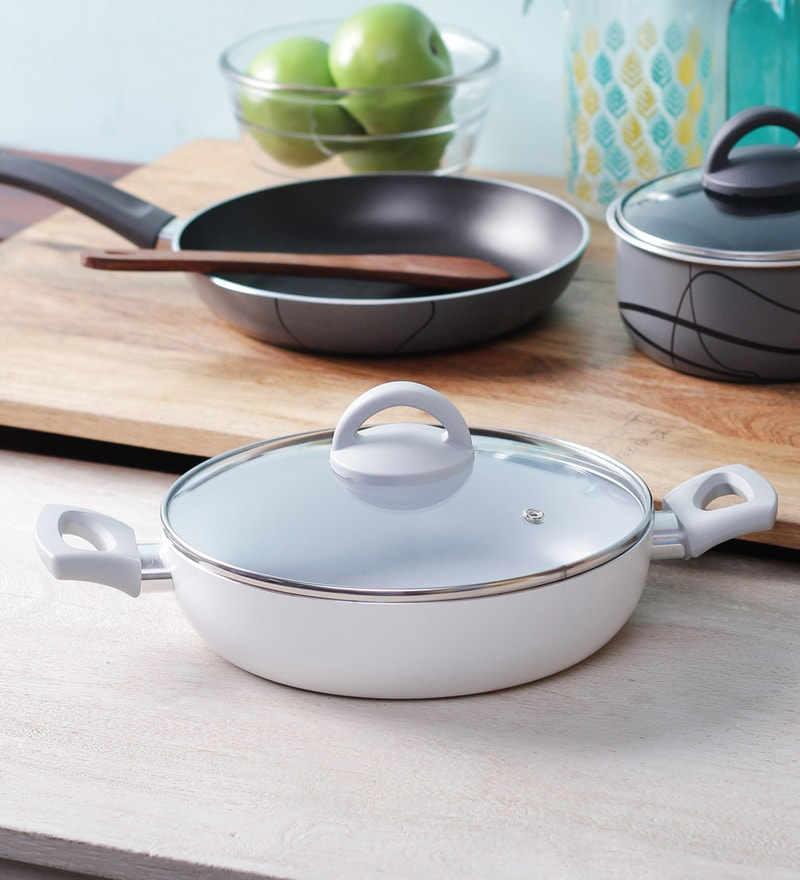 Ceramic Coated Non Stick Deep Frying Pan with Lid - 28 Cm by Illa