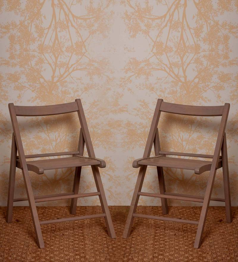 Illinois Folding Chair (Set of Two) in Provincial Teak Finish by Woodsworth
