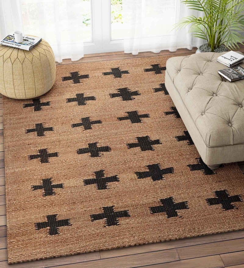 Imperial Knots Natural Jute 60 x 96 Inch Modern Dhurrie