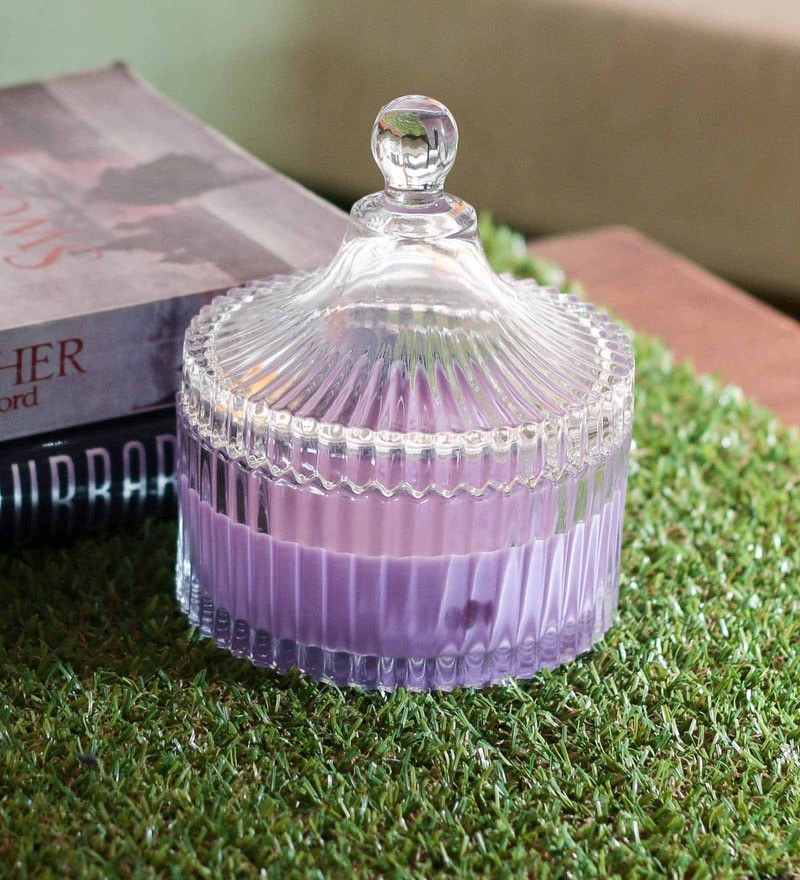 Importwala Lavender Scented Candle Glass Jar