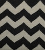 Black & Ivory Wool 36 x 60 Inch Carpet by Imperial Knots
