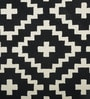 Imperial Knots Black & Ivory Wool 60 x 96 Inch Carpet