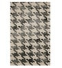 Grey Wool 96 x 60 Inch Abstract Batik Area Rug by Imperial Knots