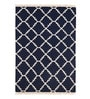 Imperial Knots Multicolour Wool 72 x 48 Inch Ikat Stripes Handwoven Flat weave Area Rug