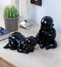 Importwala Black Resin Baby Showpiece - Set of 4