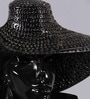 Importwala Black Resin Lady with Hat Showpiece