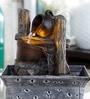 Importwala Log & Pot Rustic Brown Polyresin Water Fountain