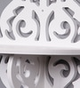 White Wood Plastic Composite Traditional Cutwork Wall Shelves - Set of 2 by Importwala