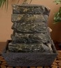 Importwala Brown Resin Slate Tiers Table Durable Fountain