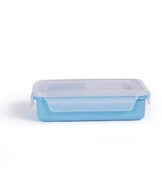 Incrizma Kidzee Blue Plastic 800 ML Lunch Box - Set Of 4