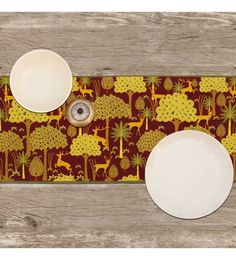 India Circus Legend Of The Backwoods Multicolour Cotton Table Runner