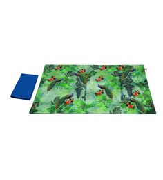 India Circus Looking For Raindrops Multicolour Canvas Placemats With Napkins Set - Set Of 6