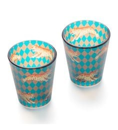 India Circus Obscure Ochre Frosted Glass 30 ML Shot Glasses - Set Of 2