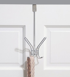 Interdesign Classico Wood & Steel Over-The-Door Quad Hook