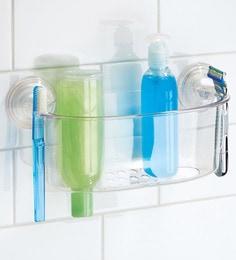 Amazing Interdesign Clear Plastic 10.2 X 4.7 X 5.1 Inch Suction Lock Bathroom  Shower Caddy