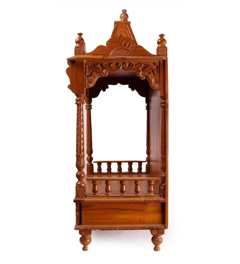 Buy In\'Design Brown Teak Wood Temple with Drawer Online - Temples ...
