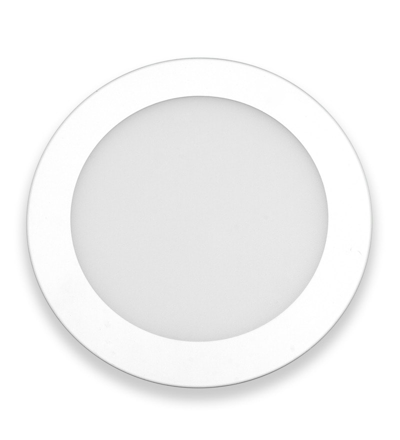 Round Neutral White 3W LED Flat Panel Light by Inddus