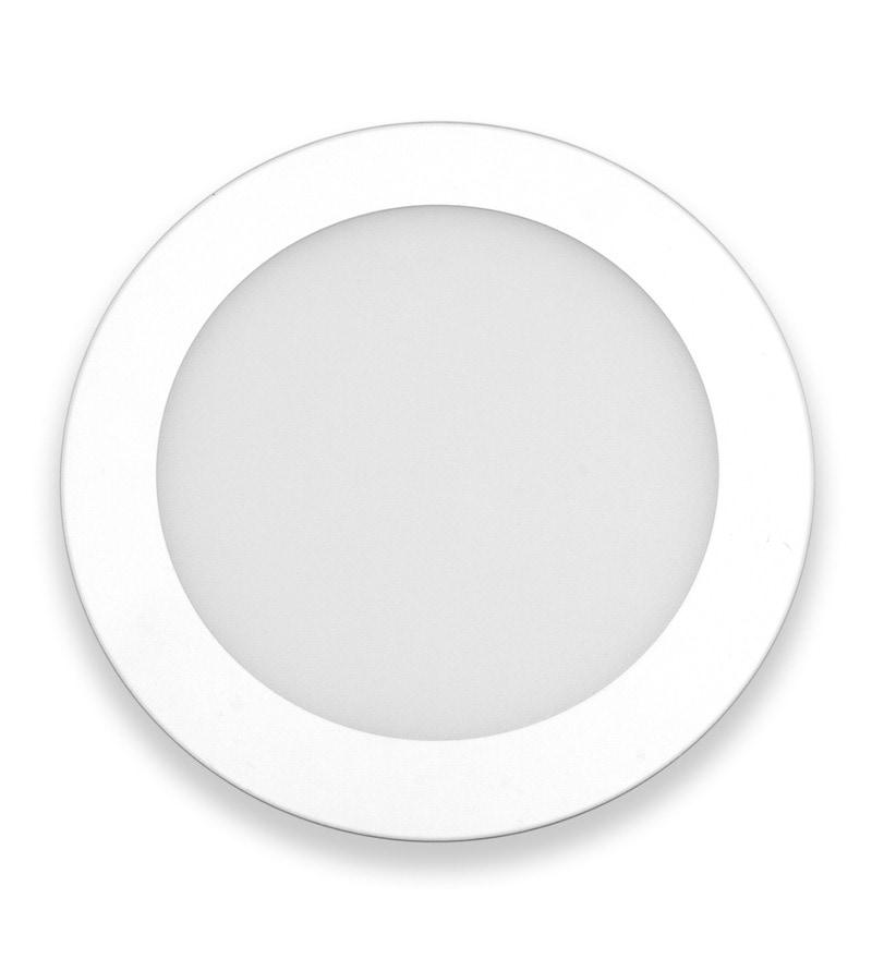 Round White 3W LED Flat Panel Light by Inddus