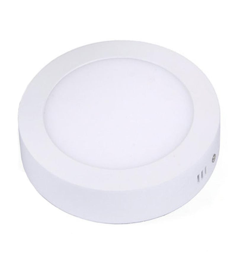 Round White 6W LED Surface Panel Light by Inddus