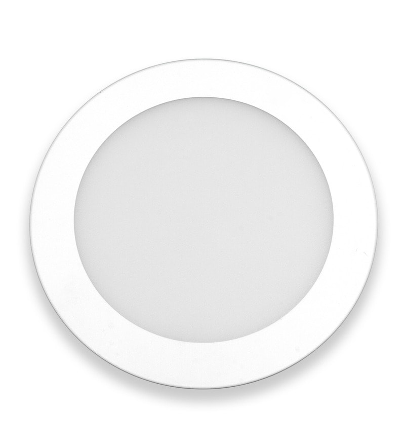 Round Yellow 12W LED Flat Panel Light by Inddus
