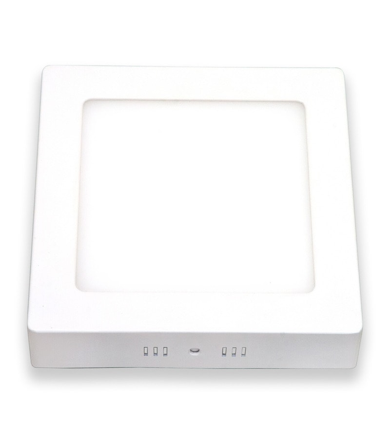 Square Neutral White 18W LED Surface Panel Light by Inddus