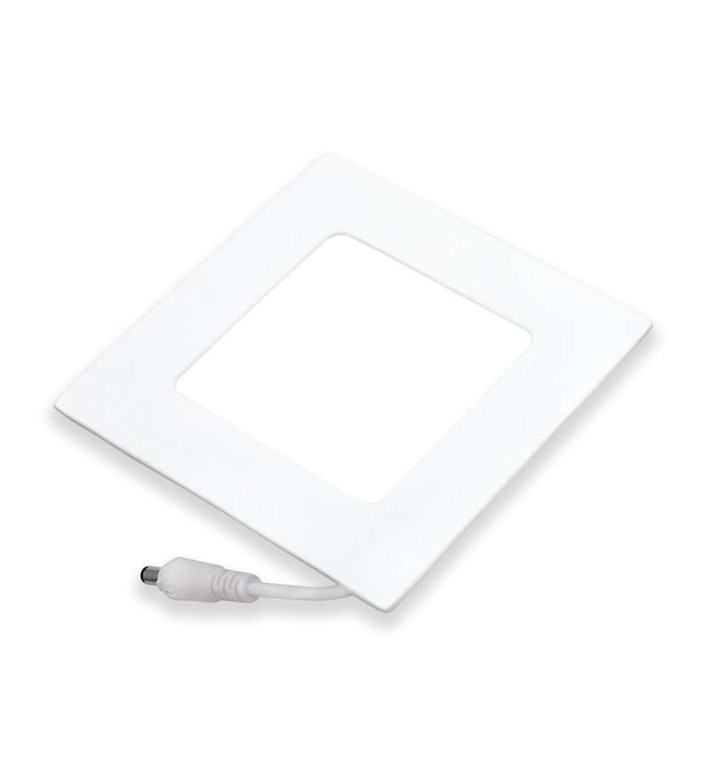Square Yellow 18W LED Flat Panel Light by Inddus