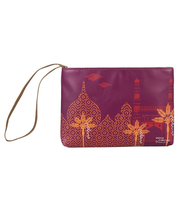 India Circus Arabian Enamor Faux Leather Utility Pouch