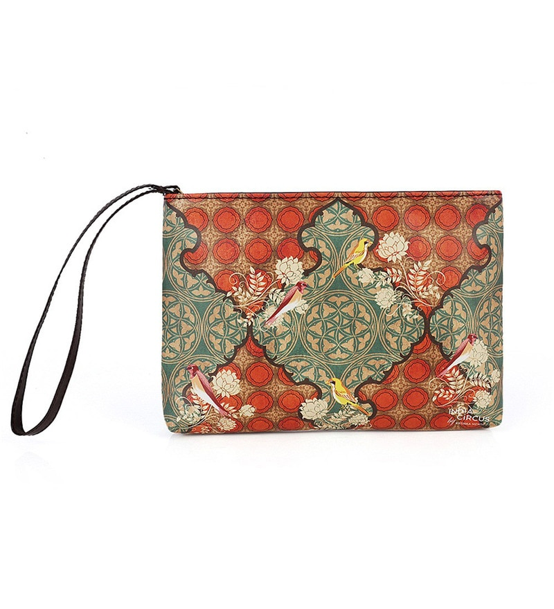 India Circus Avian Illusions Faux Leather Utility Pouch