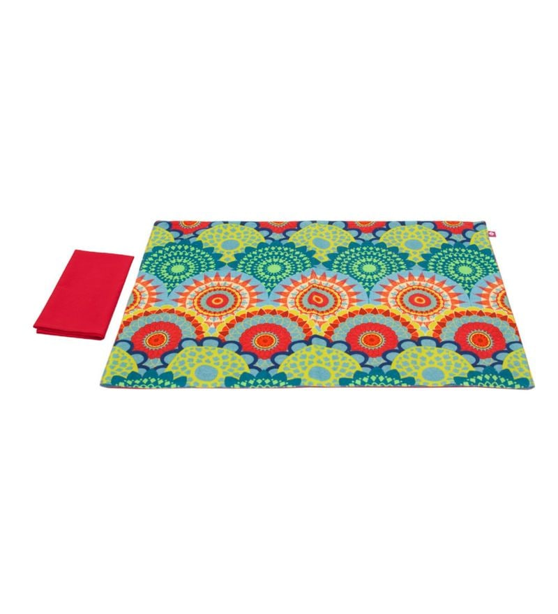India Circus Ecliptic Lei Multicolour Canvas Placemats with Napkins Set - Set of 6