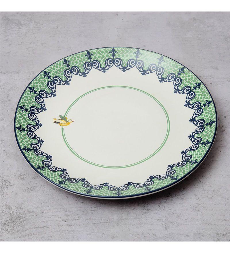 India Circus Flight of Birds Stoneware Dinner Plate