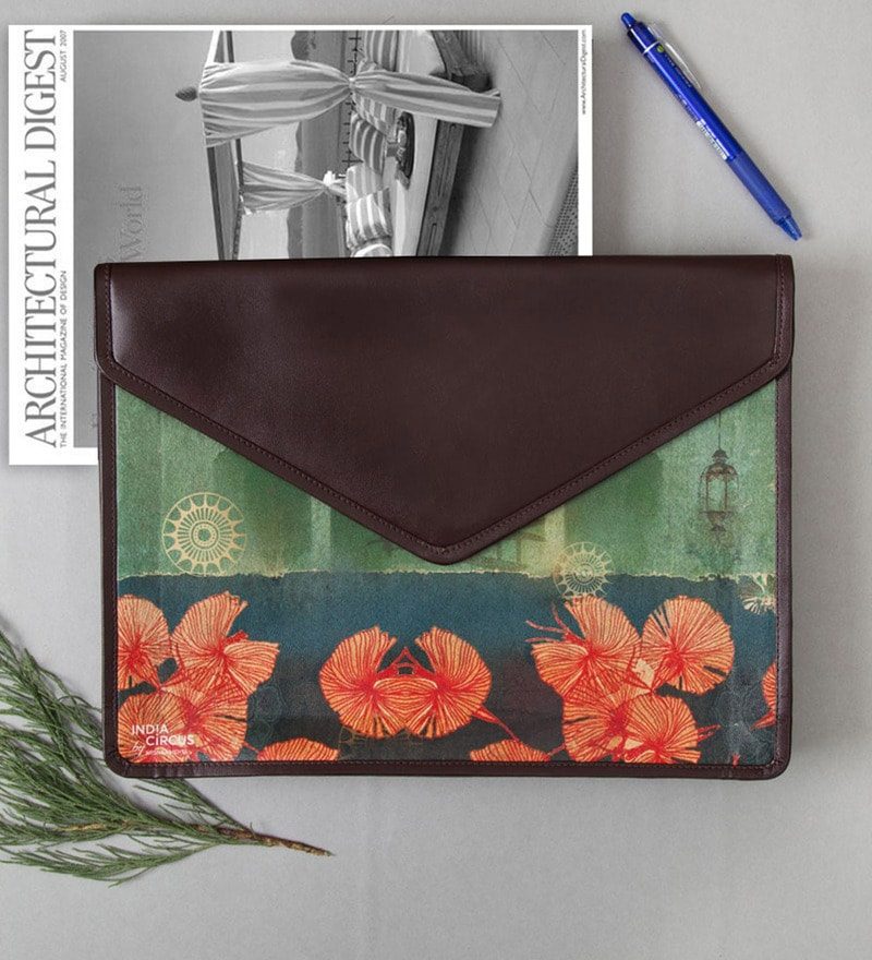 India Circus Leaves & Lanterns Faux Leather Multicolour Document Holder