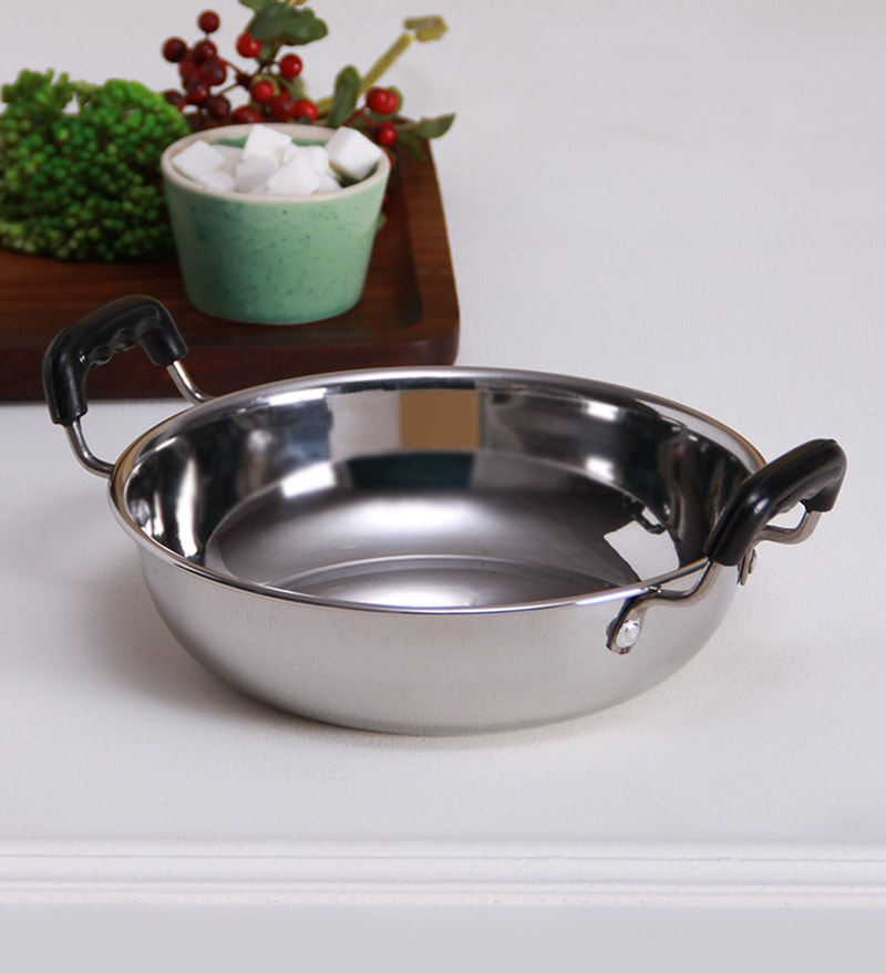 Induction Bottom Stainless Steel 1.5 L Kadai by Hazel