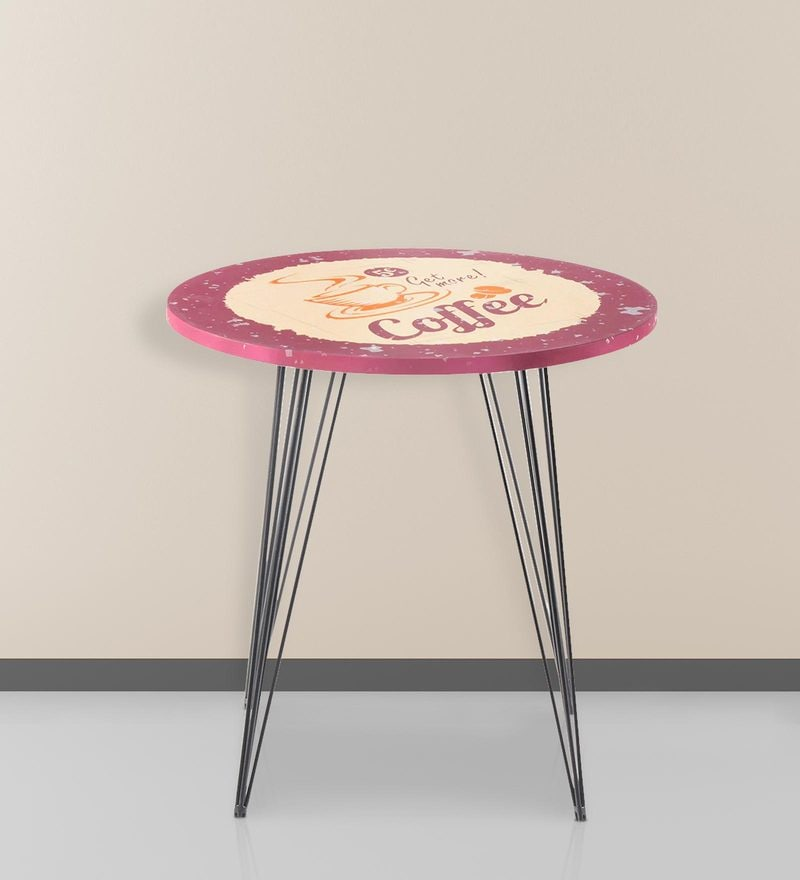 Infiniti Round End Table in Black Colour by Nilkamal
