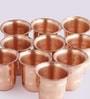 Indian Art Villa Handmade Copper 100 ML Glasses - Set of 10
