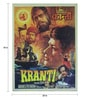 Paper 20 x 30 Inch Kranti Vintage Unframed Bollywood Poster by Indian Hippy