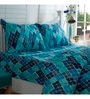 Inhouse by Maspar Antique Argyle Print Blue 1 Double Bedsheet with 2 Pillow Cover