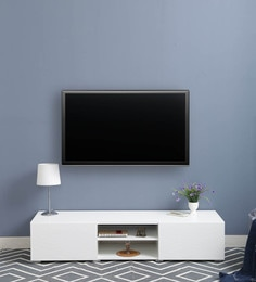 Ivor Entertainment Unit In White Finish