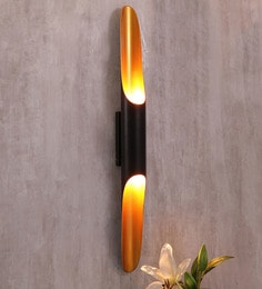 Jainsons Emporio Black & Gold Aluminium Wall Mounted Light