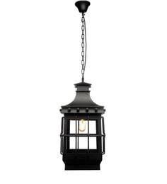 Jainsons Emporio Black Aluminium & Glass Pendant