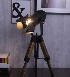 Jainsons Emporio Black Aluminium Table Tripod Lamp