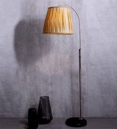 Jainsons Emporio White Fabric Floor Lamp