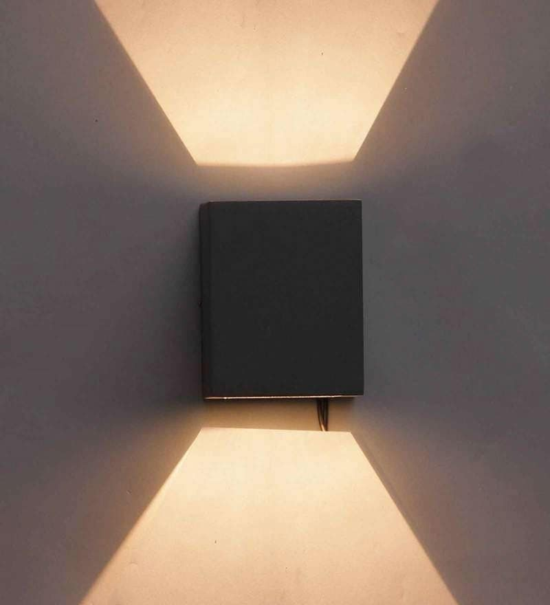 Belo Outdoor Wall Light in Black by Jainsons Emporio