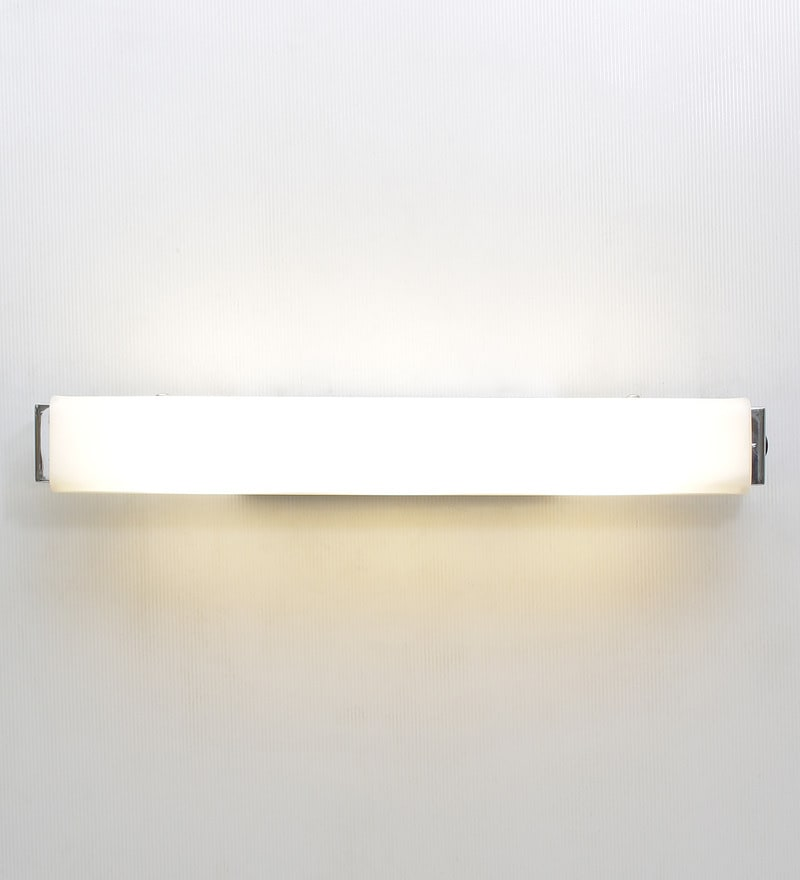 Etched Glass Led Bathroom Light by Jainsons Emporio