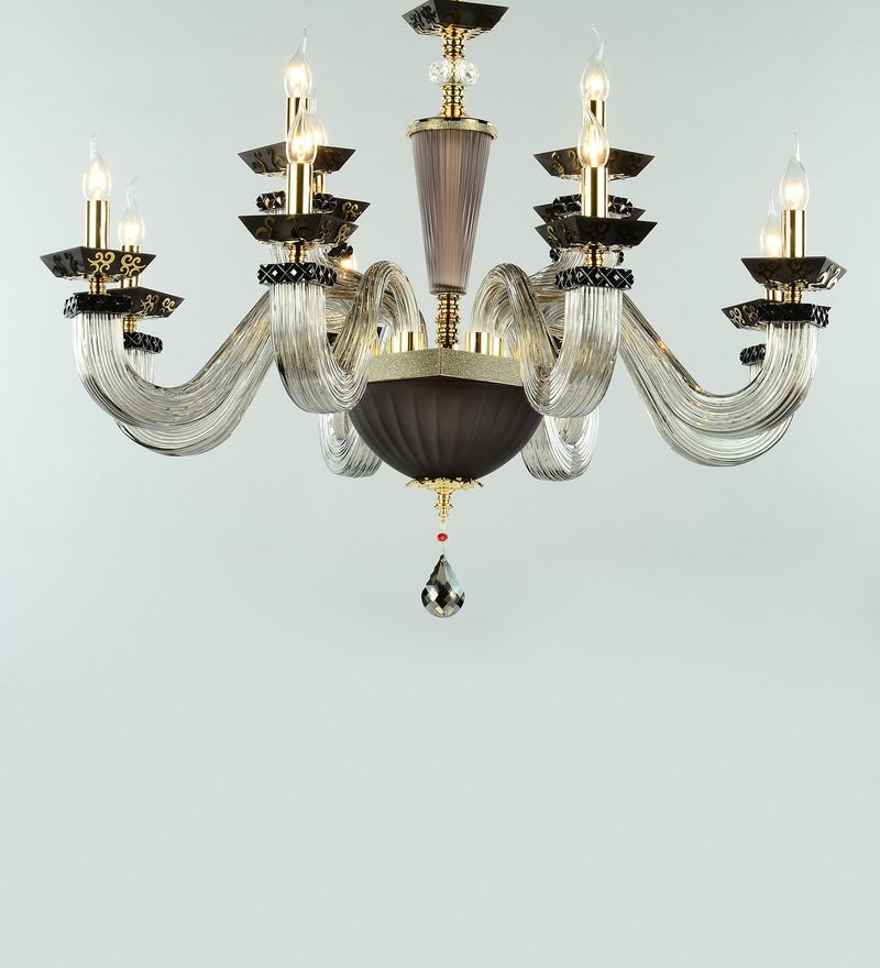 Transparent Crystal Kaira 8 Lights Chandelier by Jainsons Emporio