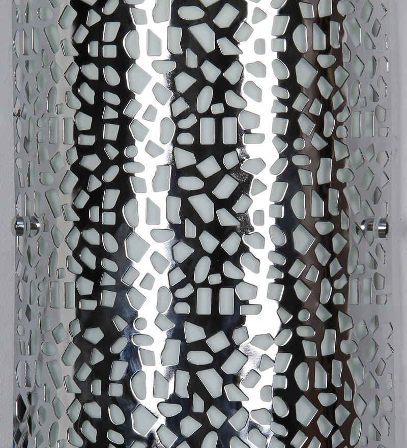 Buy Laser Cut Pattern Silver Metal Wall Light By Jainsons